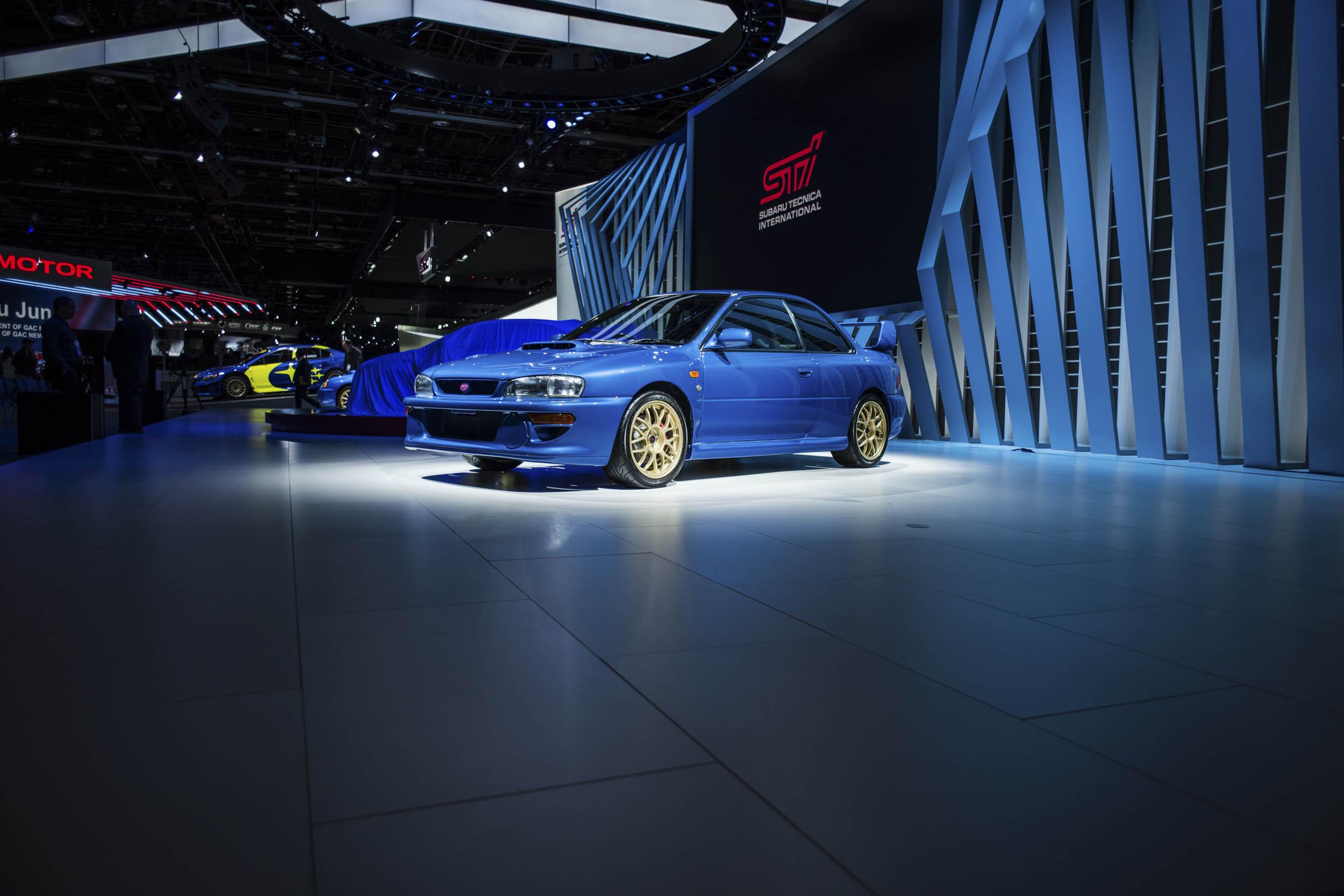 1998 Subaru 22B on the show floor