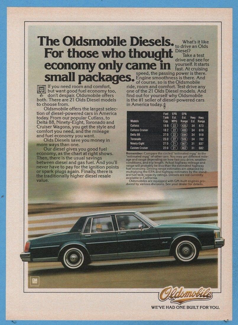 Oldsmobile Diesel engine ad