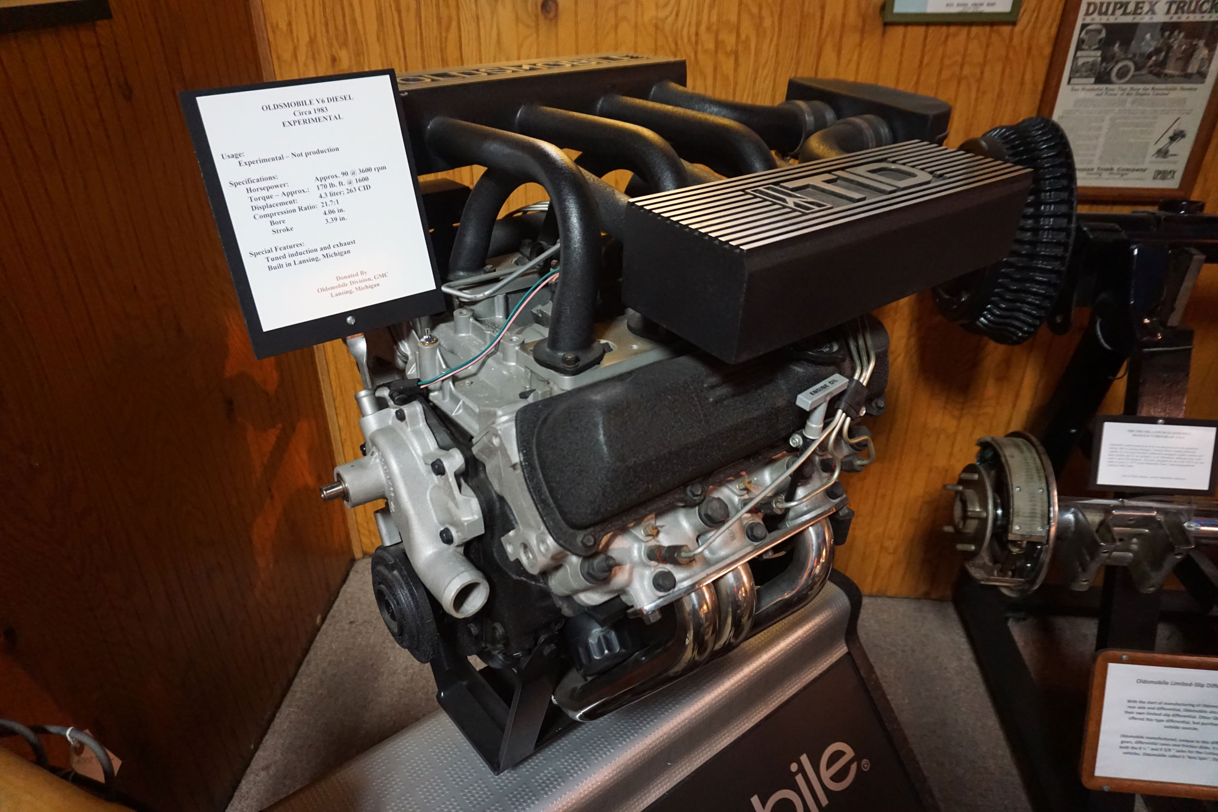1983 Oldsmobile V-6 experimental diesel engine