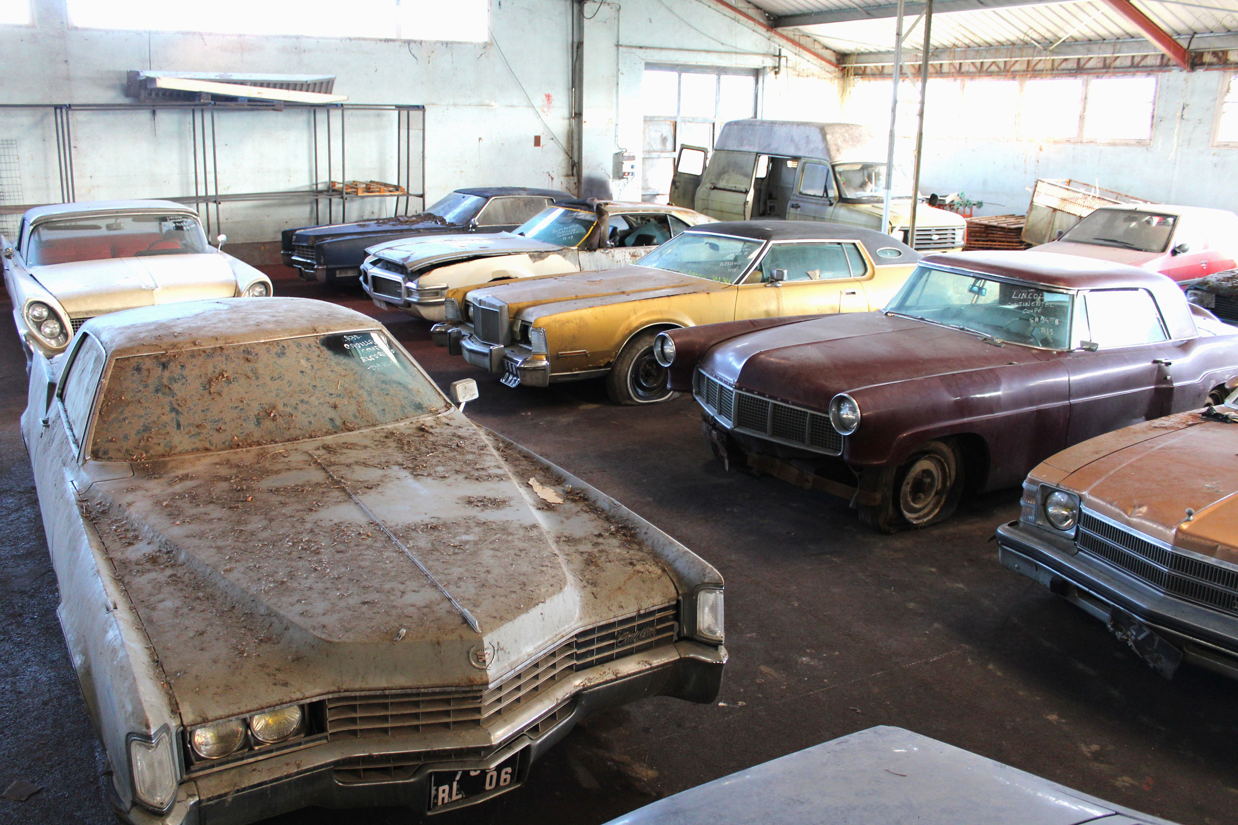 group shot of cars found in French Barn