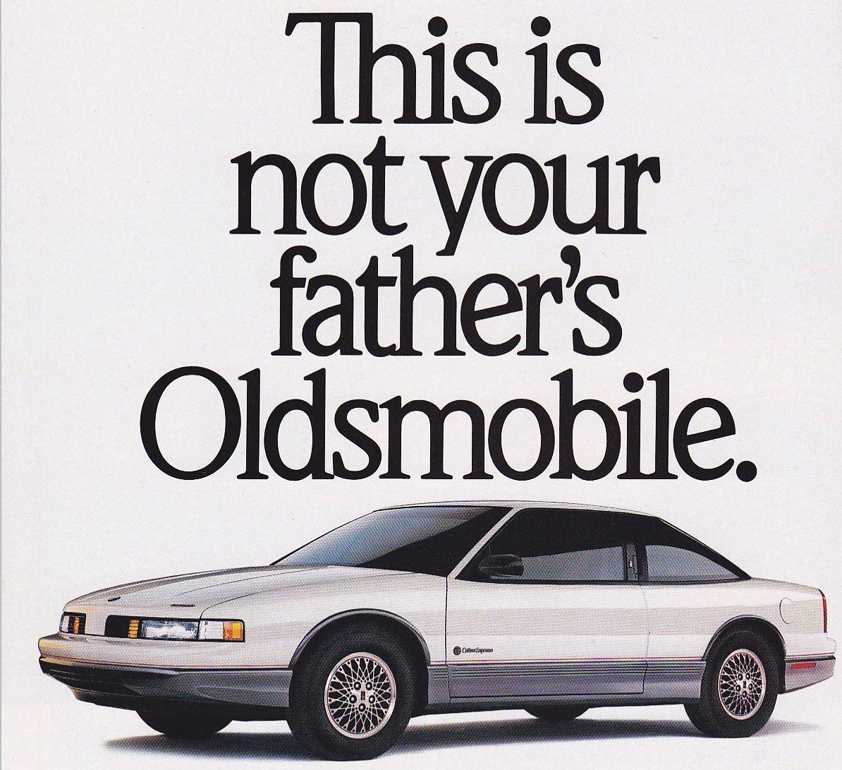 1989 Oldsmobile Cutlass Supreme advert
