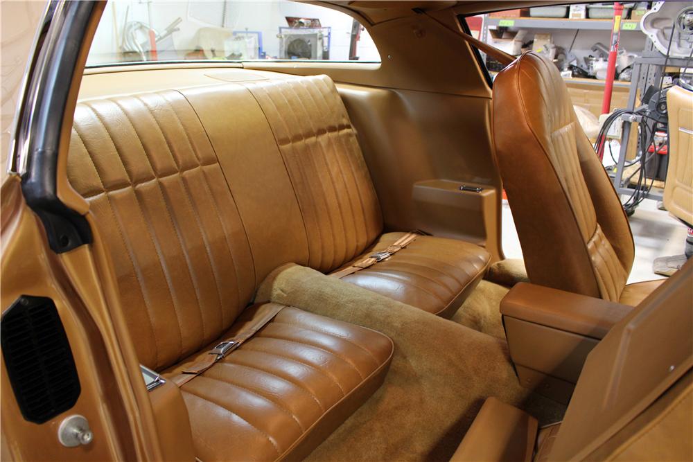 "1978 Pontiac Firebird Formula ""The Rockford Files"" rear seats"