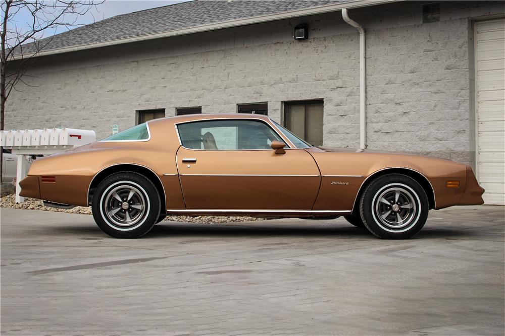 "1978 Pontiac Firebird Formula ""The Rockford Files"" side profile"