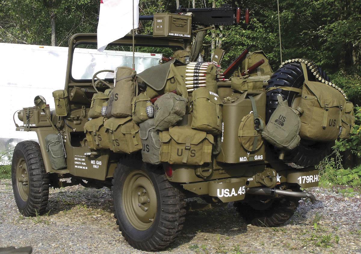 1952 Willys M38 Korean War Jeep rear 3/4