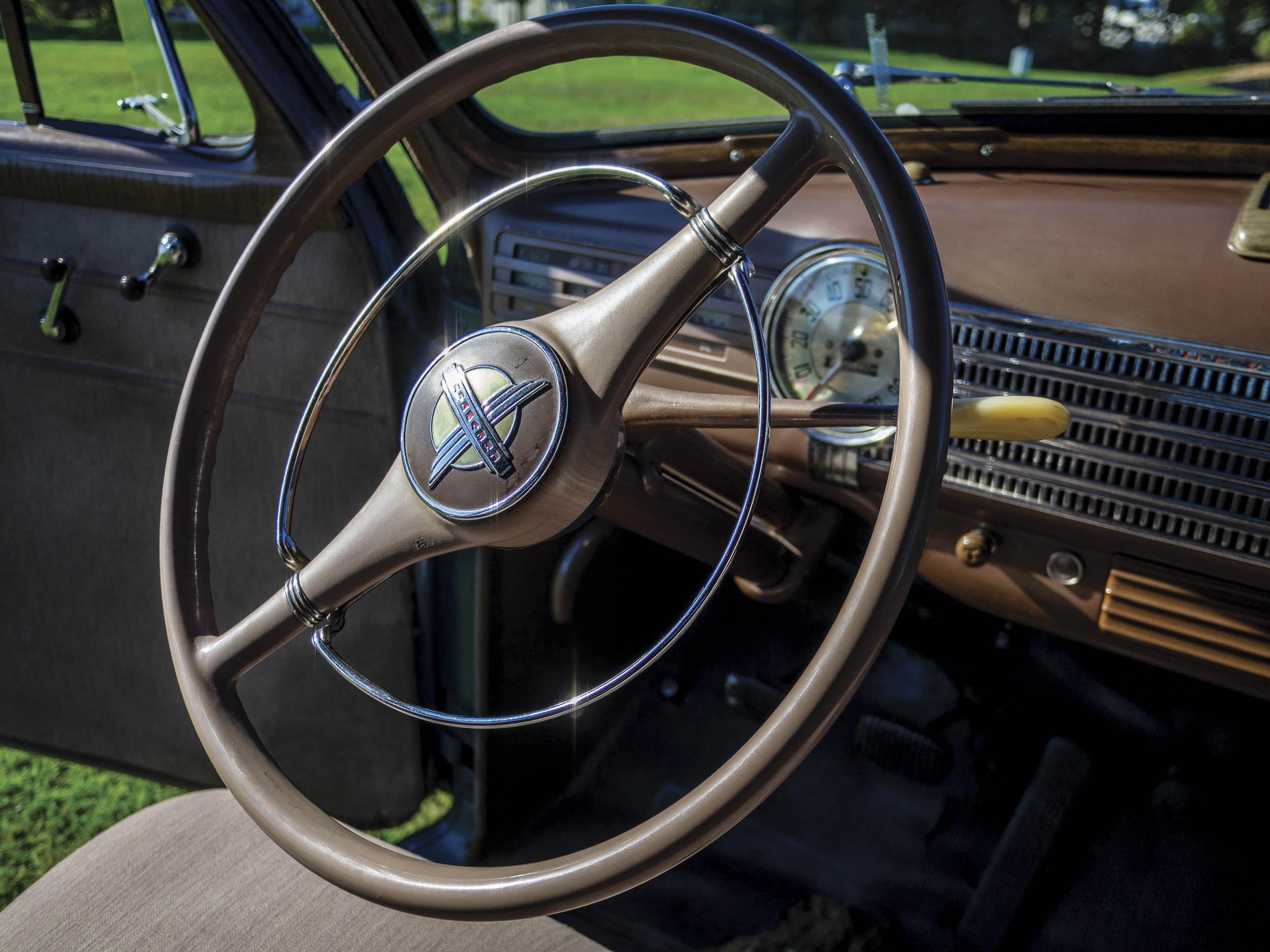 The Chevy's original interior wears a lovely patina that complements the one on its exterior. It's clear the car meant a great deal to its original owner, Martha Wilson.