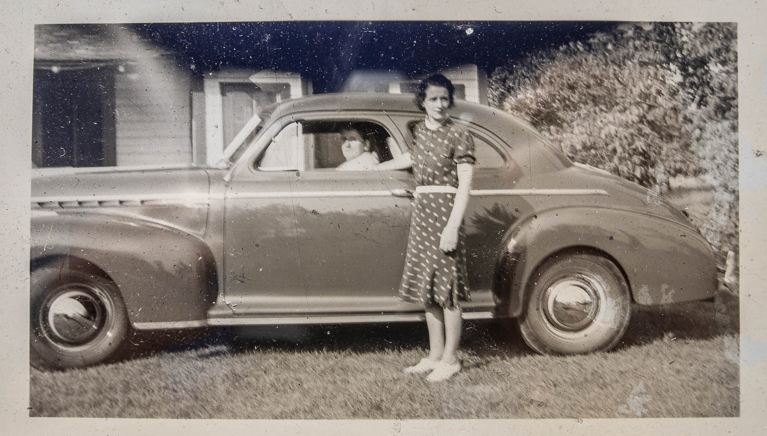 Martha with the 41 chevy