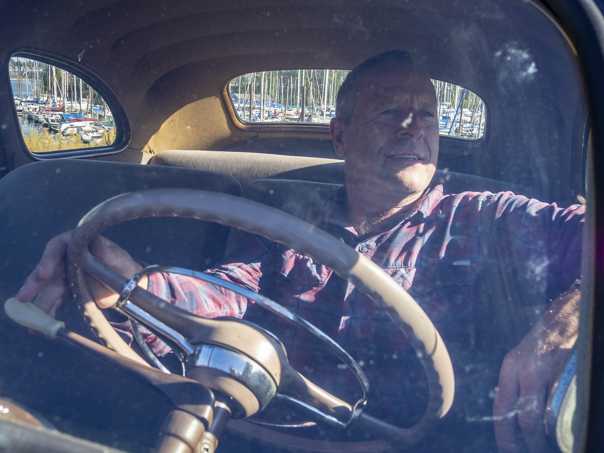 Scott Rich in his 1941 Chevrolet Master Deluxe