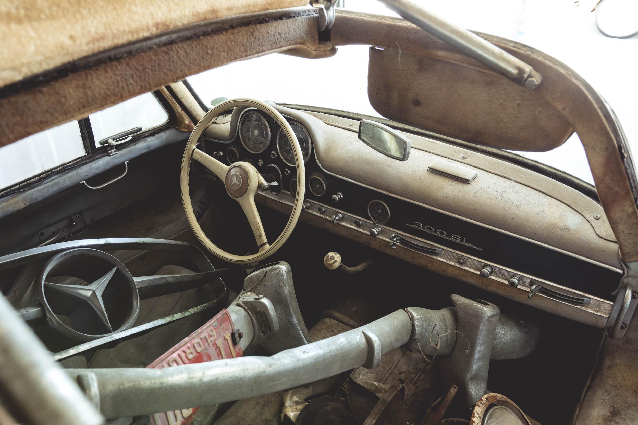 1954 Mercedes-Benz 300SL Gullwing interior
