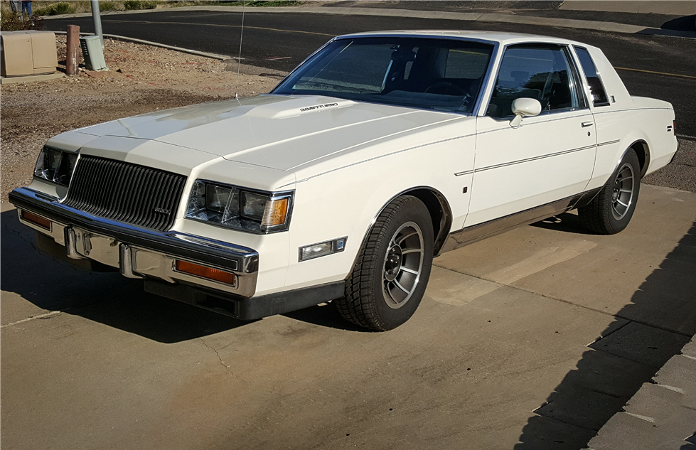 1987 Buick Regal T-type white 3/4 front
