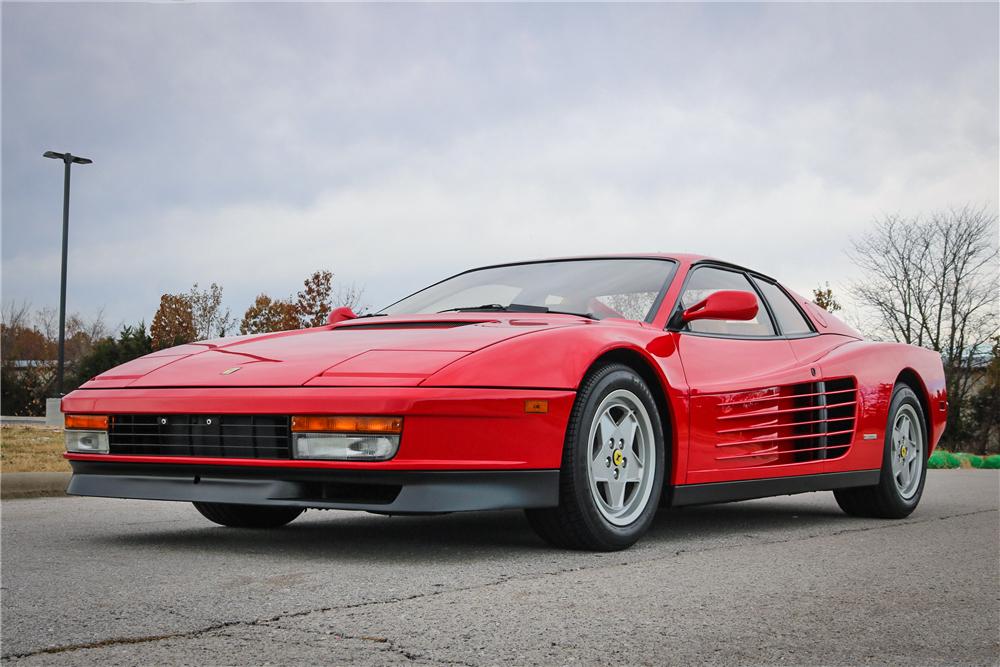 1988 Ferrari Testarossa red 3/4 front