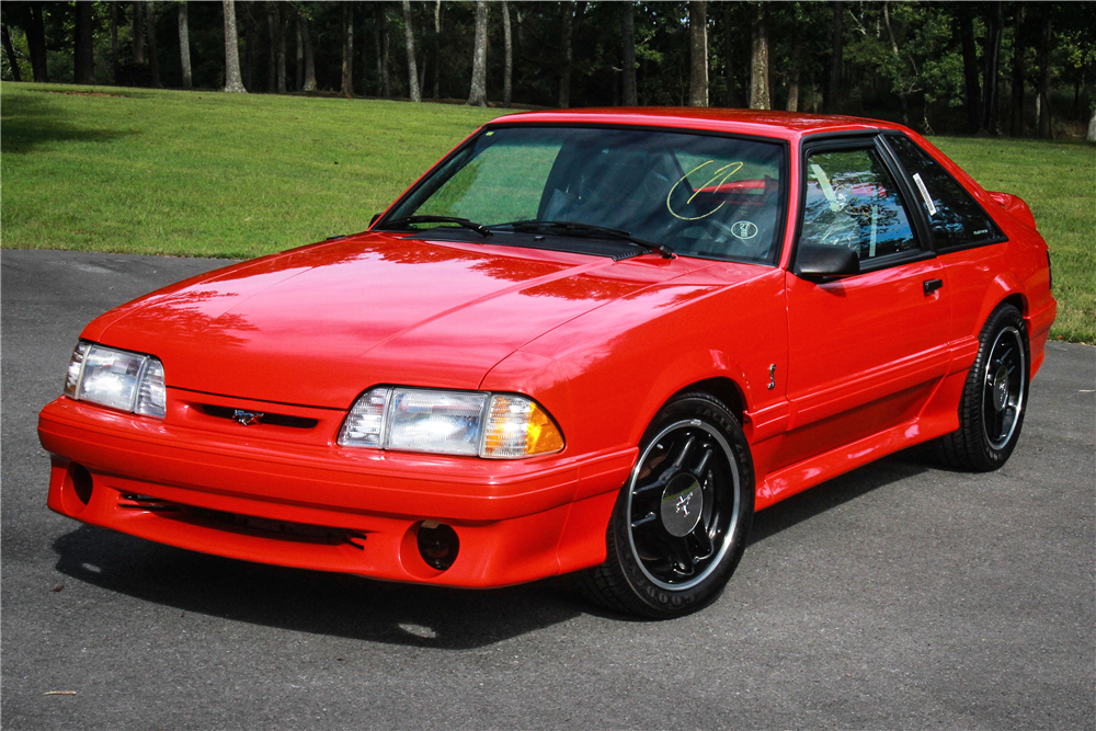 1993 Ford Mustang SVT Cobra R 3/4 front red