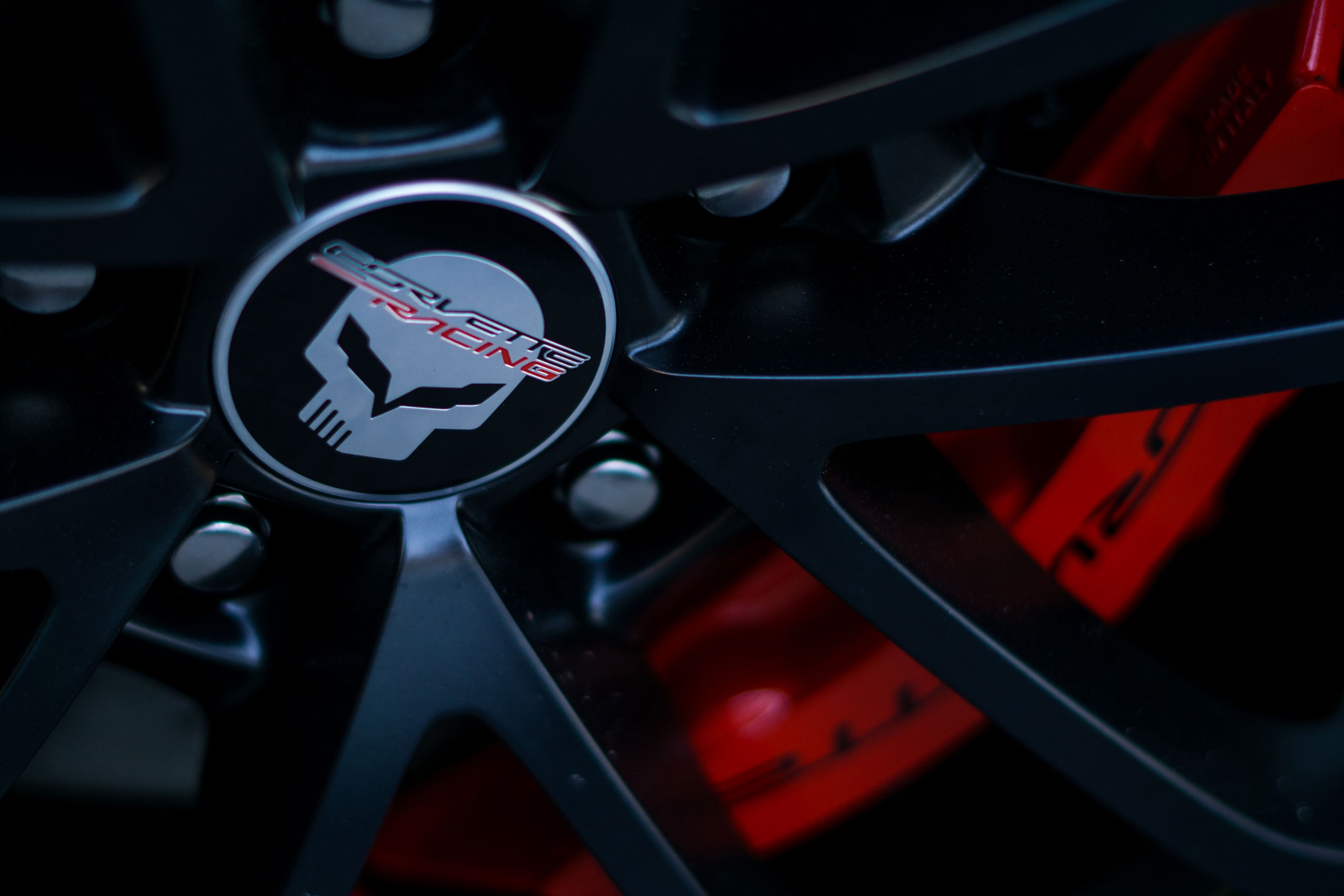 Corvette racing wheel detail
