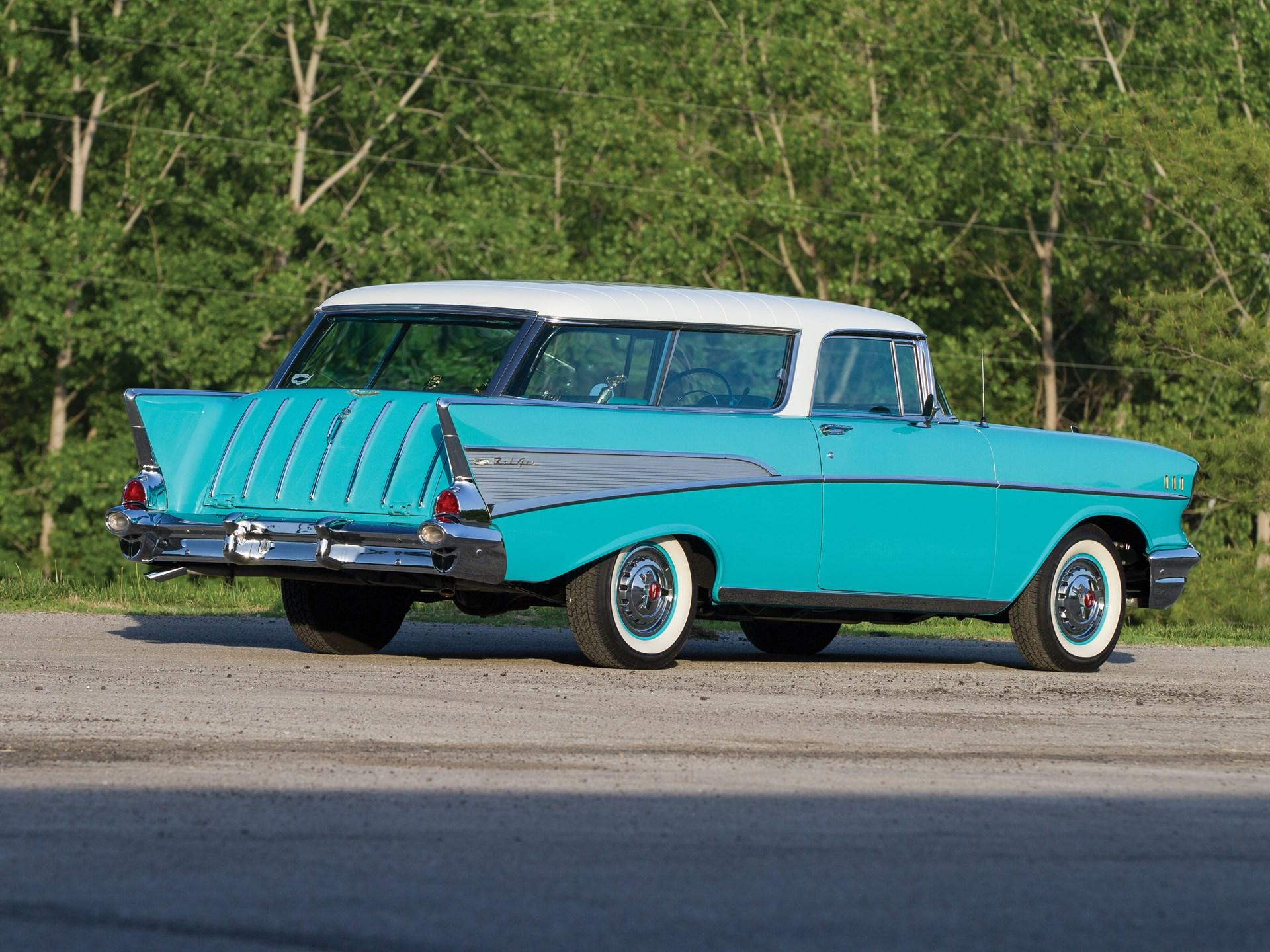 1957 Chevrolet Bel Air Nomad 3/4 rear