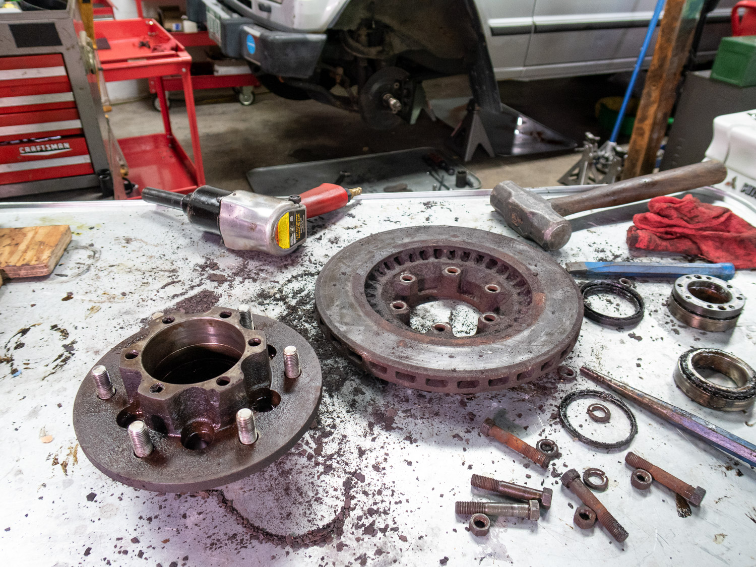 Winter projects dirty brakes