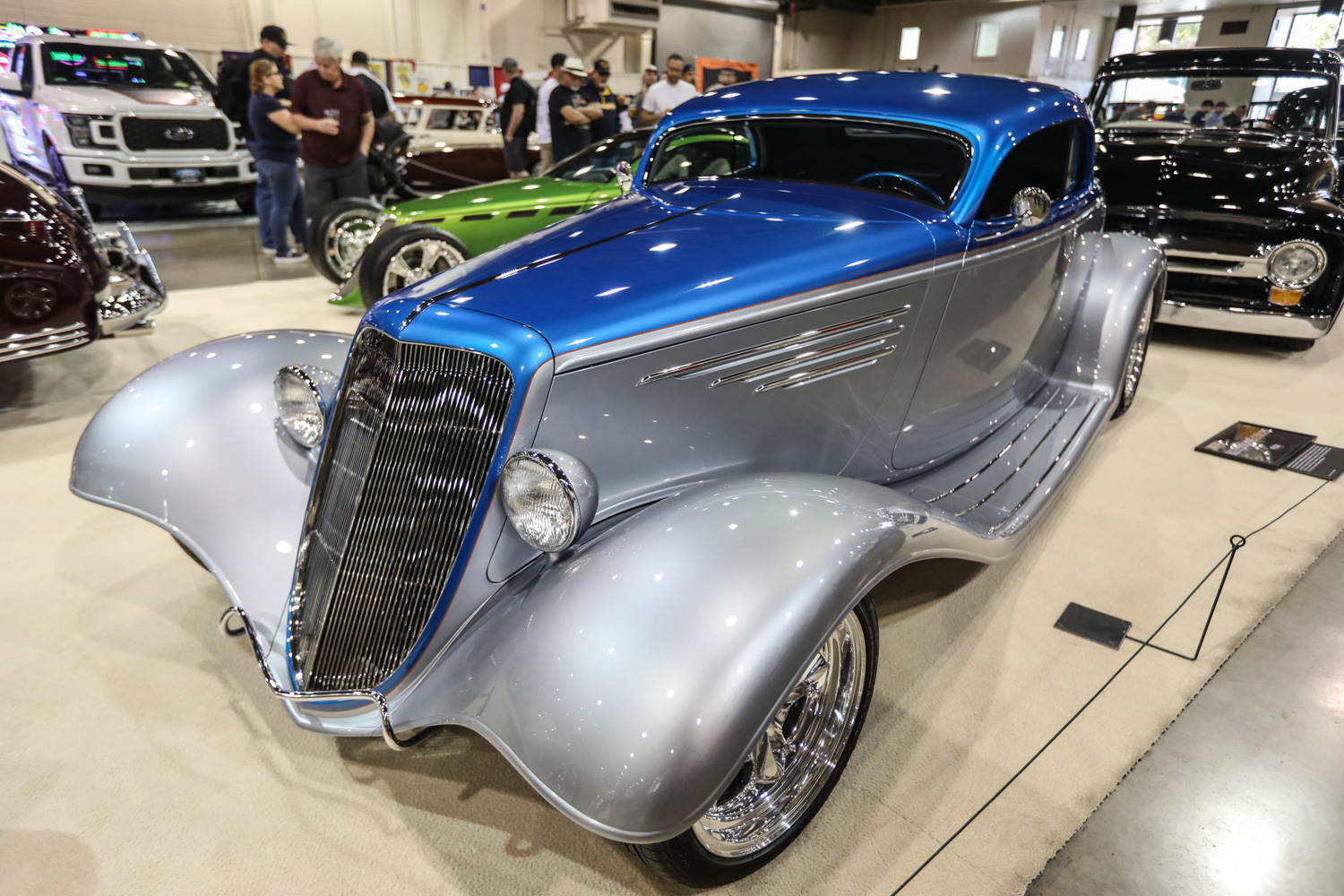 chip foose blue grey hot rod
