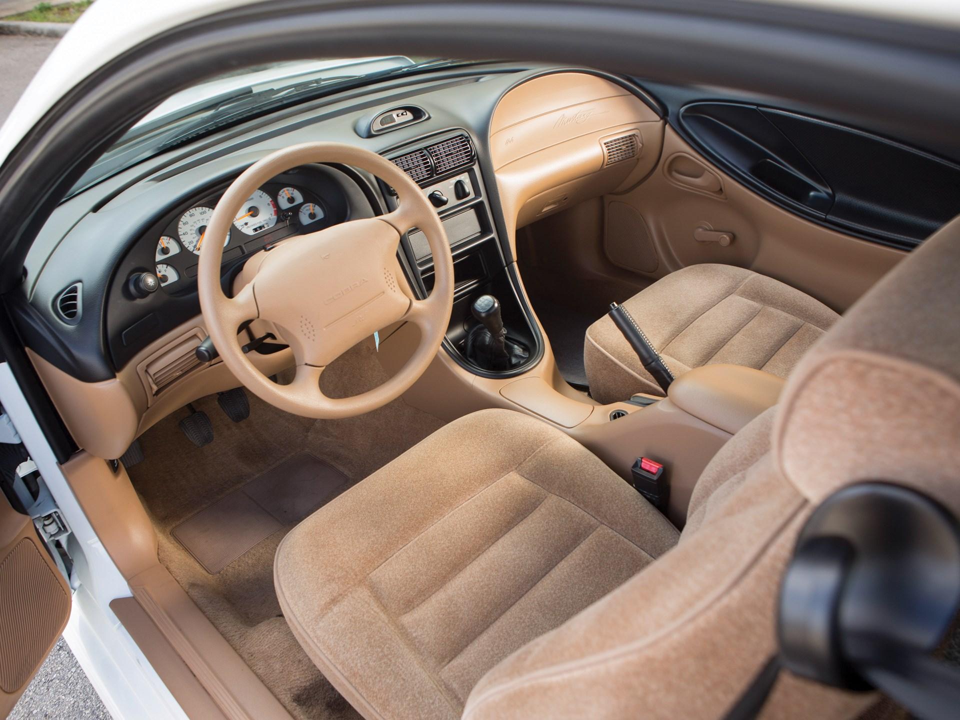 1995 Ford Mustang SVT Cobra R driver interior