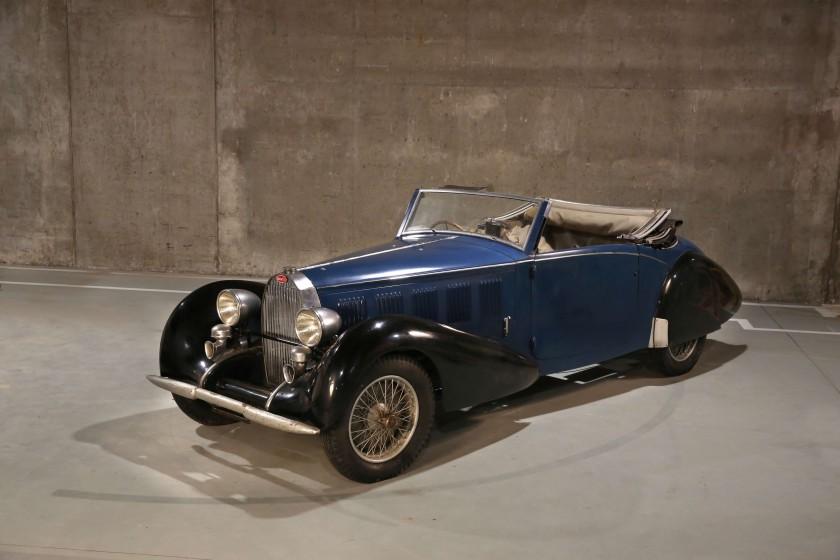 1937 Bugatti Type 57 Cabriolet par Graber front 3/4