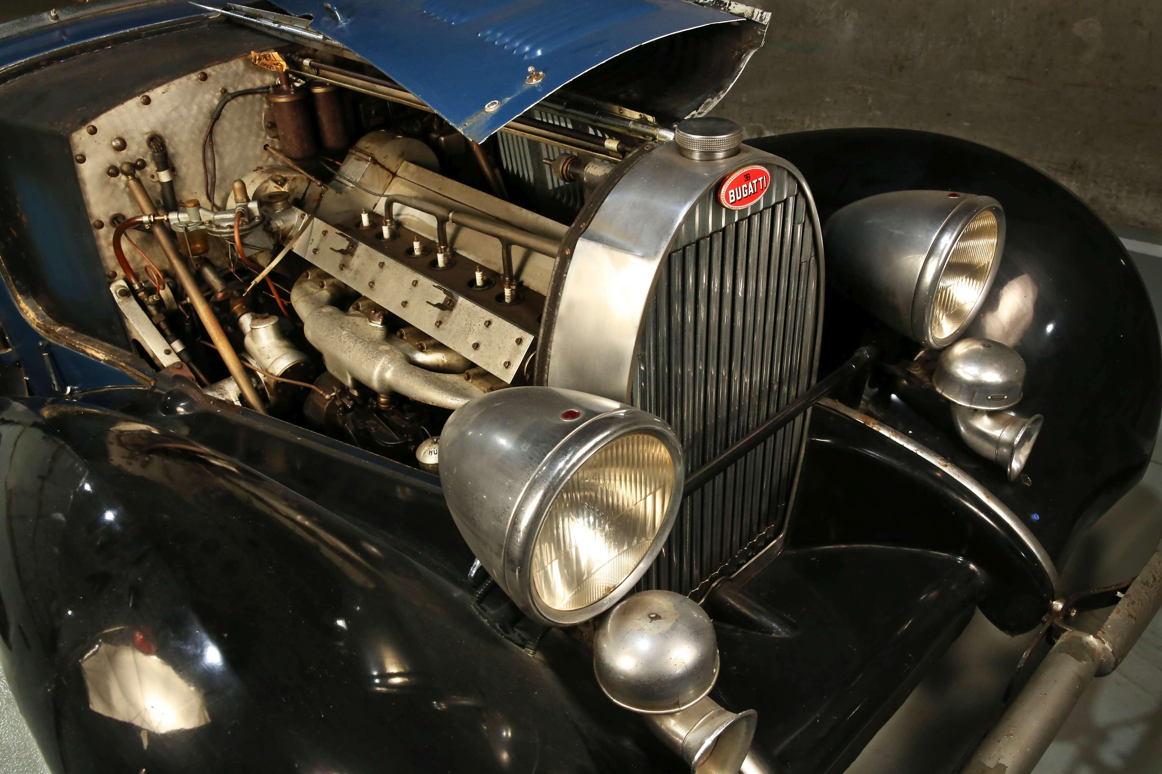 1937 Bugatti Type 57 Cabriolet par Graber engine