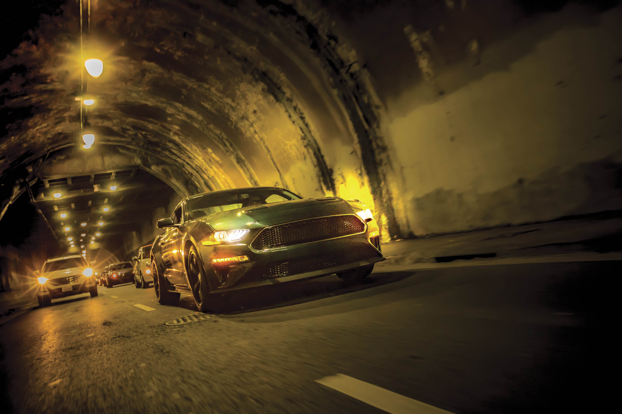 2019 Ford Mustang Bullitt tunnel