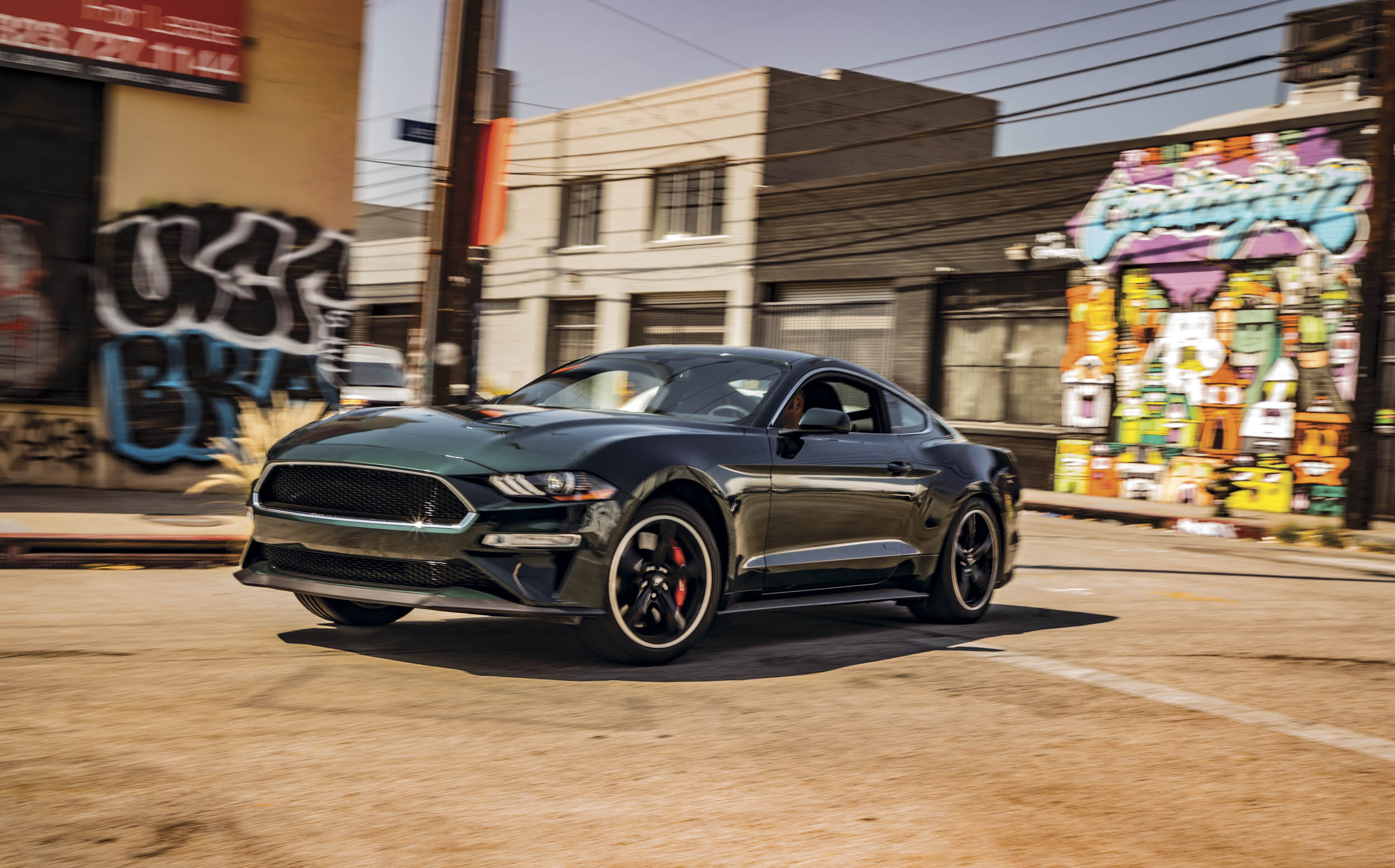2019 Ford Mustang Bullitt 3/4 front turn