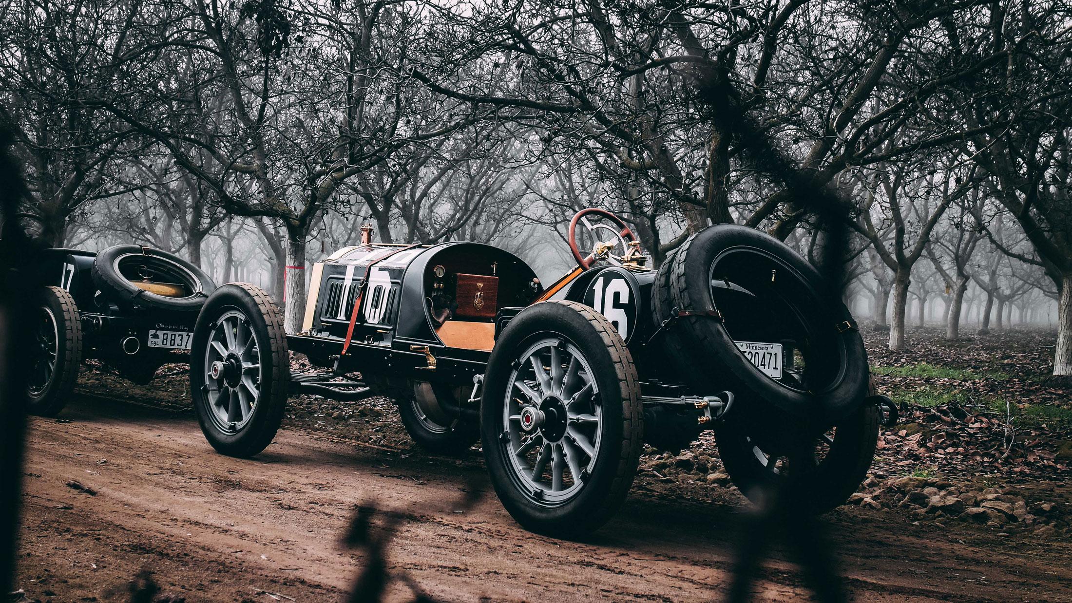 vintage car broken down