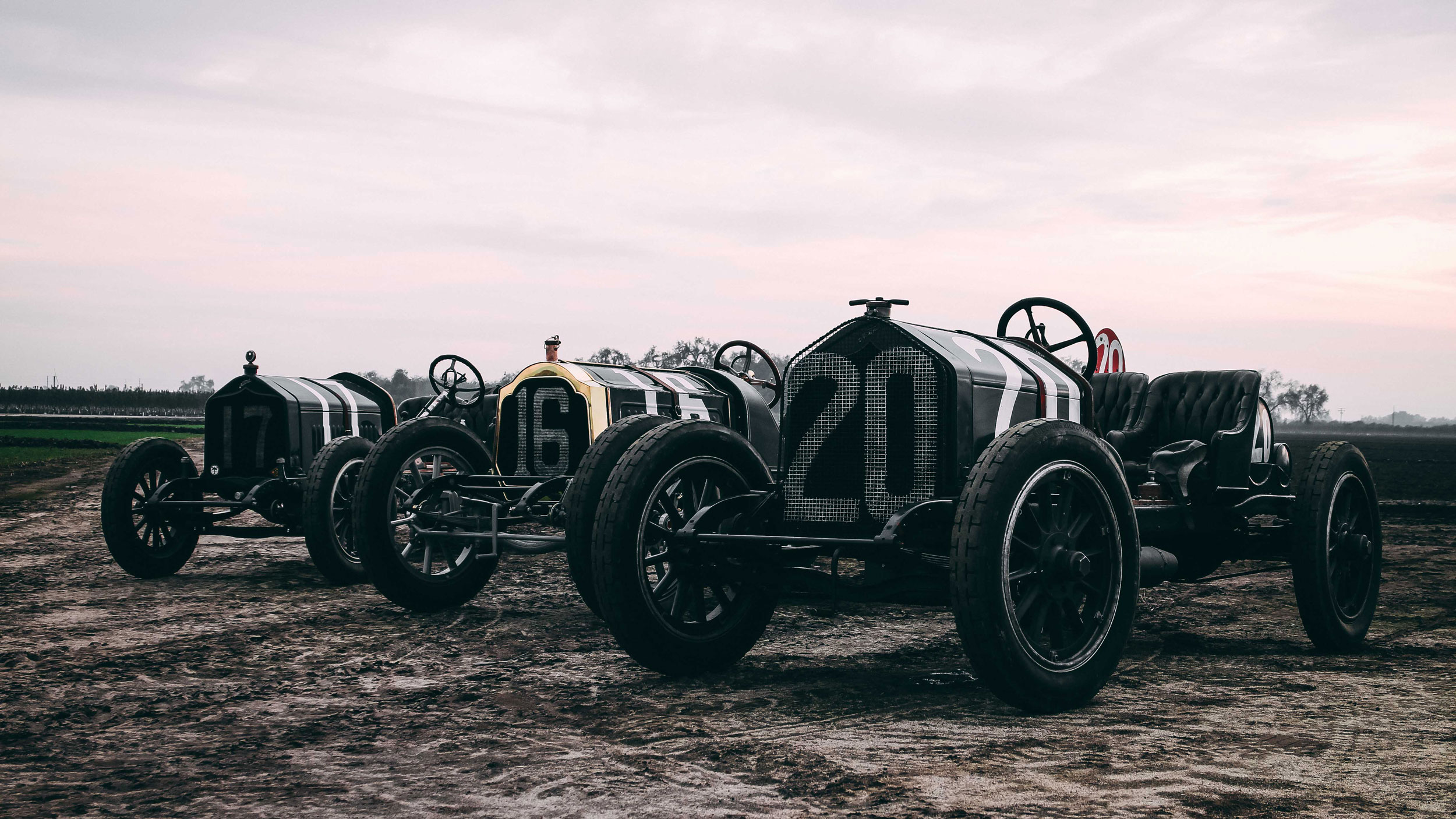 Group of vintage race cars