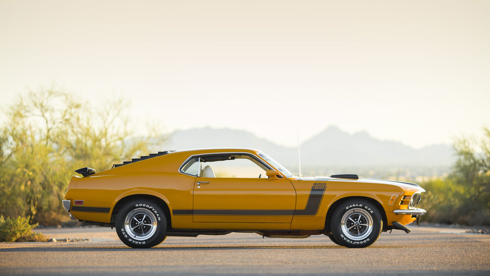 1970 Ford Mustang Boss 302 side profile