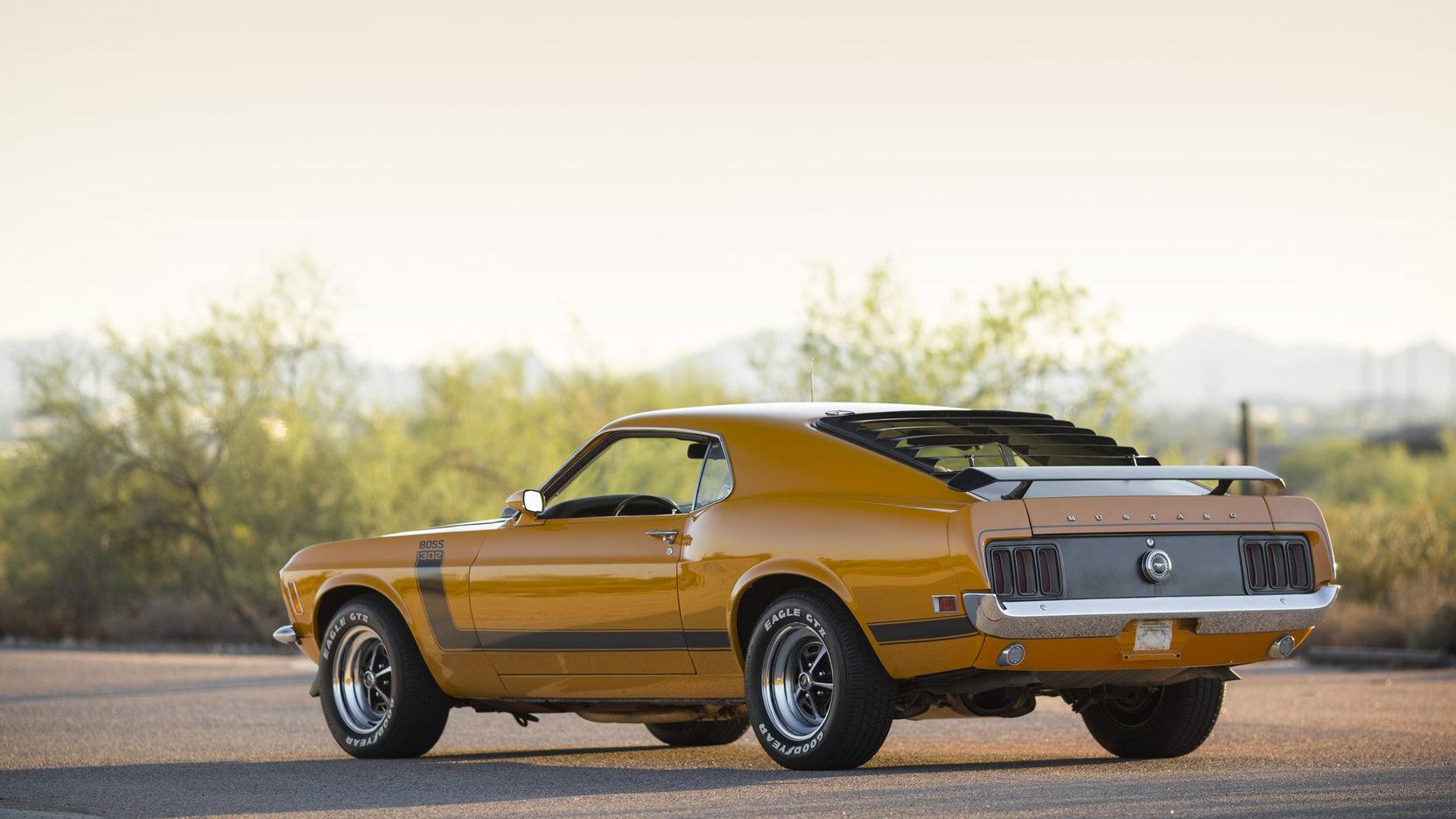 1970 Ford Mustang Boss 302 3/4 rear