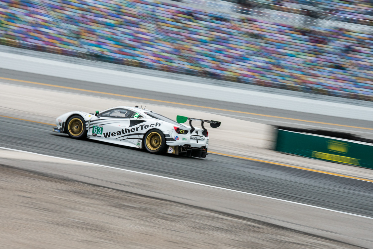 Scuderia Corsa's WeatherTech Ferrari was quick in certain stages of the race.