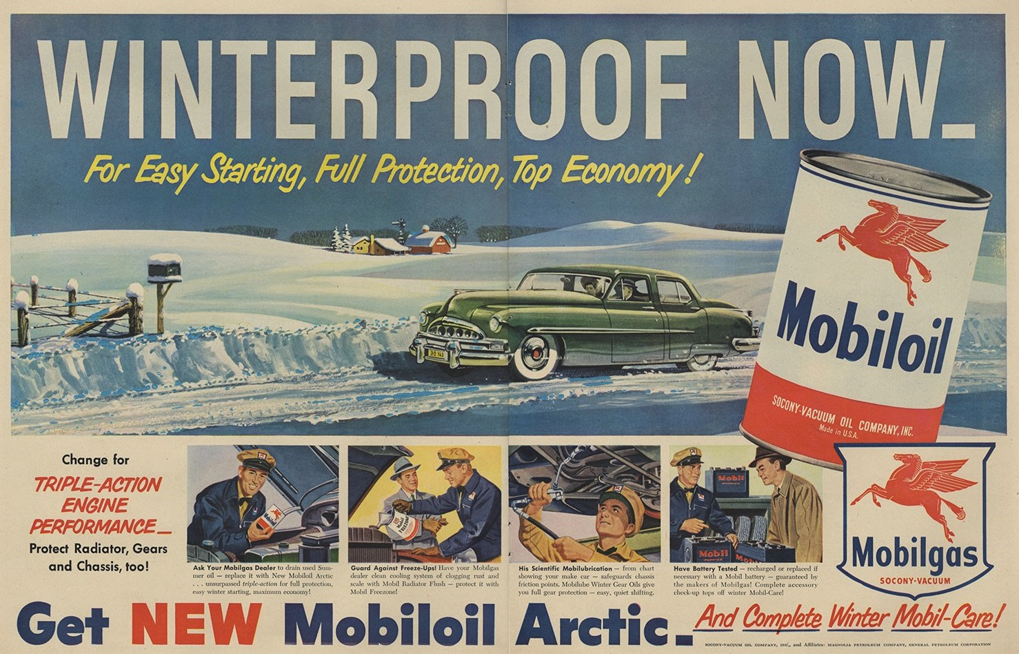 old mobile winter ad