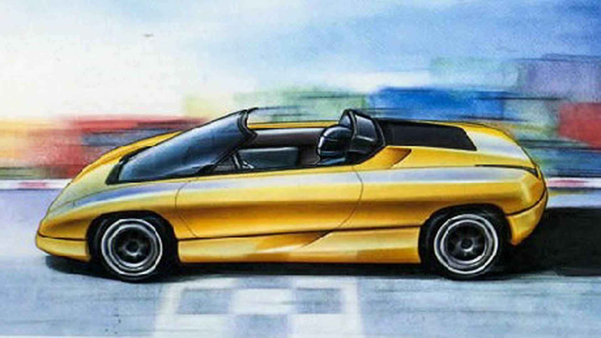 1990 Bertone Nivola concept side sketch