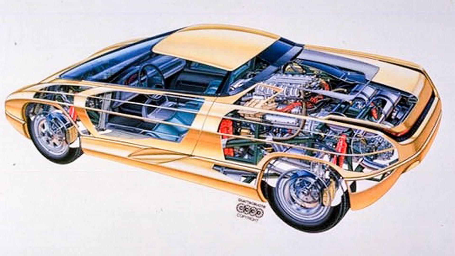 1990 Bertone Nivola concept cutaway