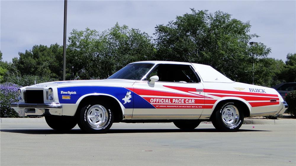 "1975 Buick Regal ""Free Spirit"" Pace Car 3/4 front"