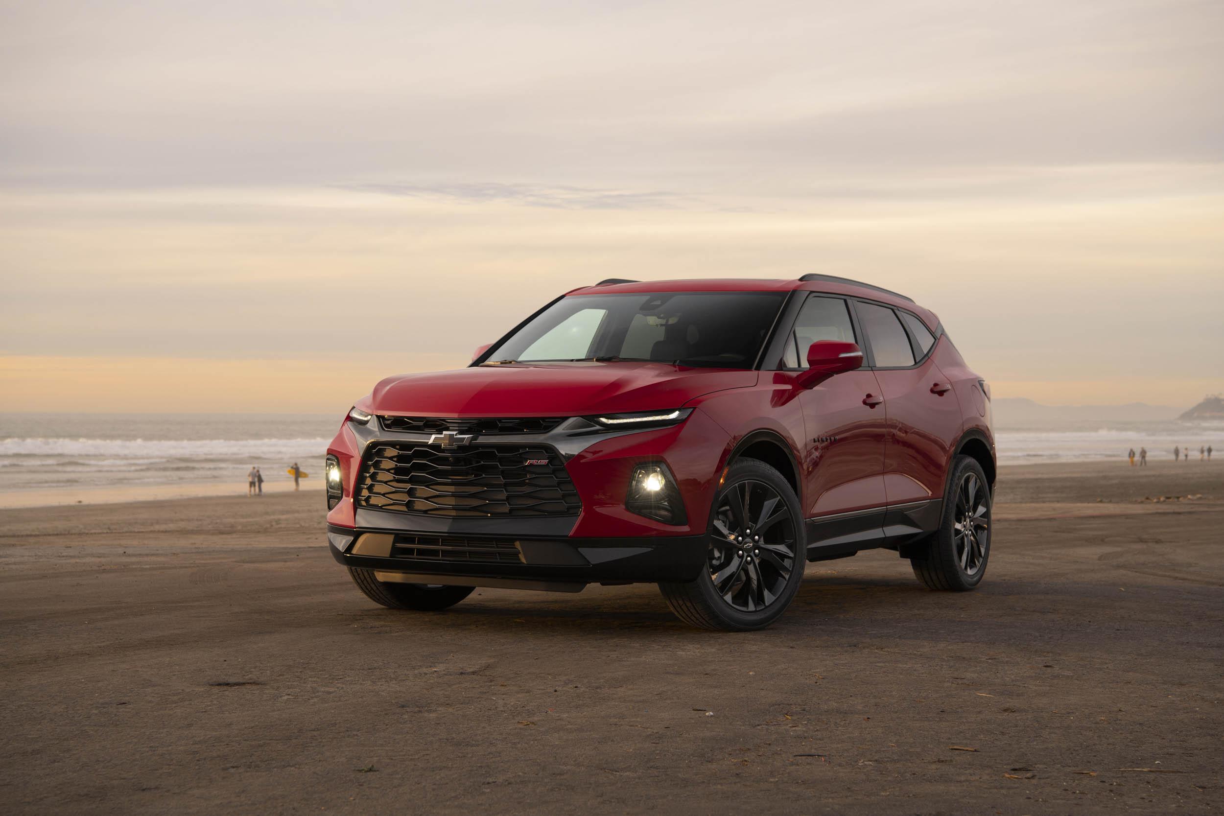 red 2019 Chevrolet Blazer at sunset