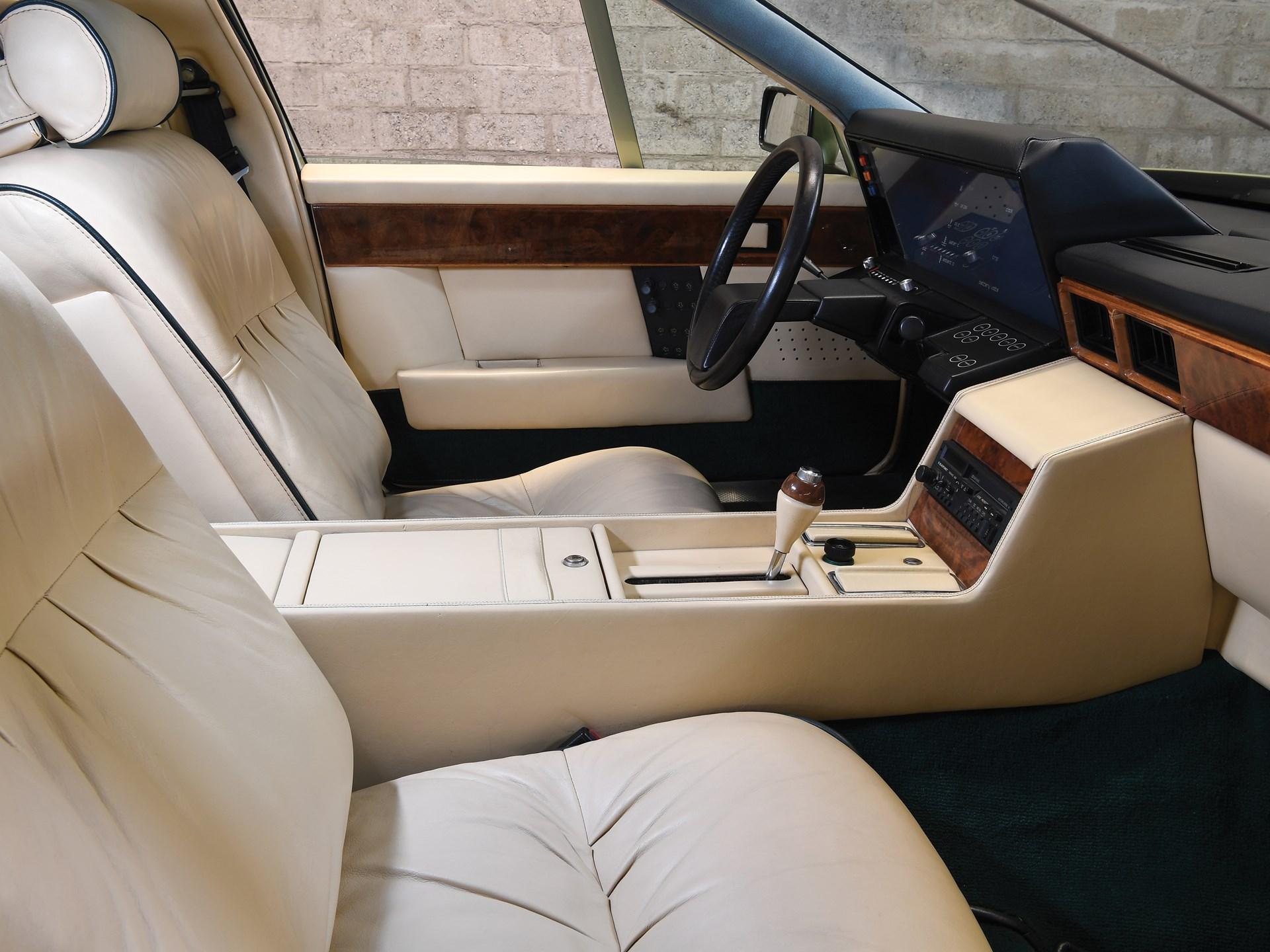 1983 Aston Martin Tickford Lagonda interior