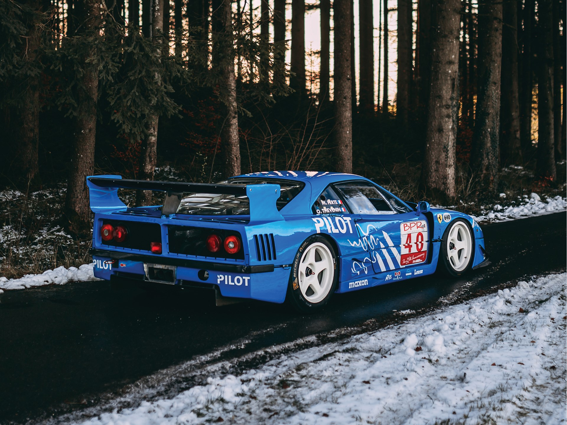 1987 Ferrari F40 LM rear 2/3 snow