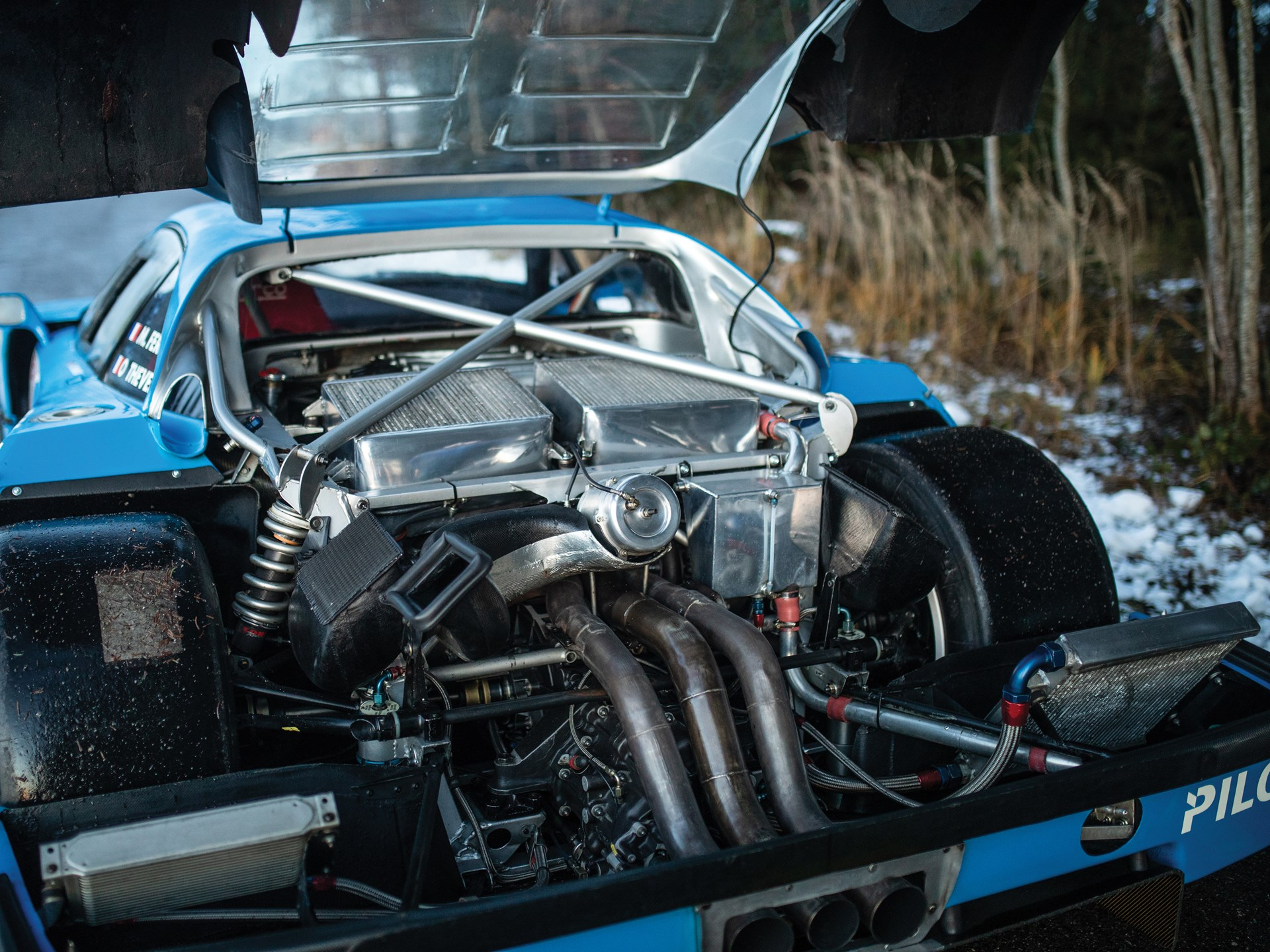 1987 Ferrari F40 LM rear engine hood up