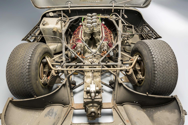 1966 Serenissima Spyder rear hood open engine