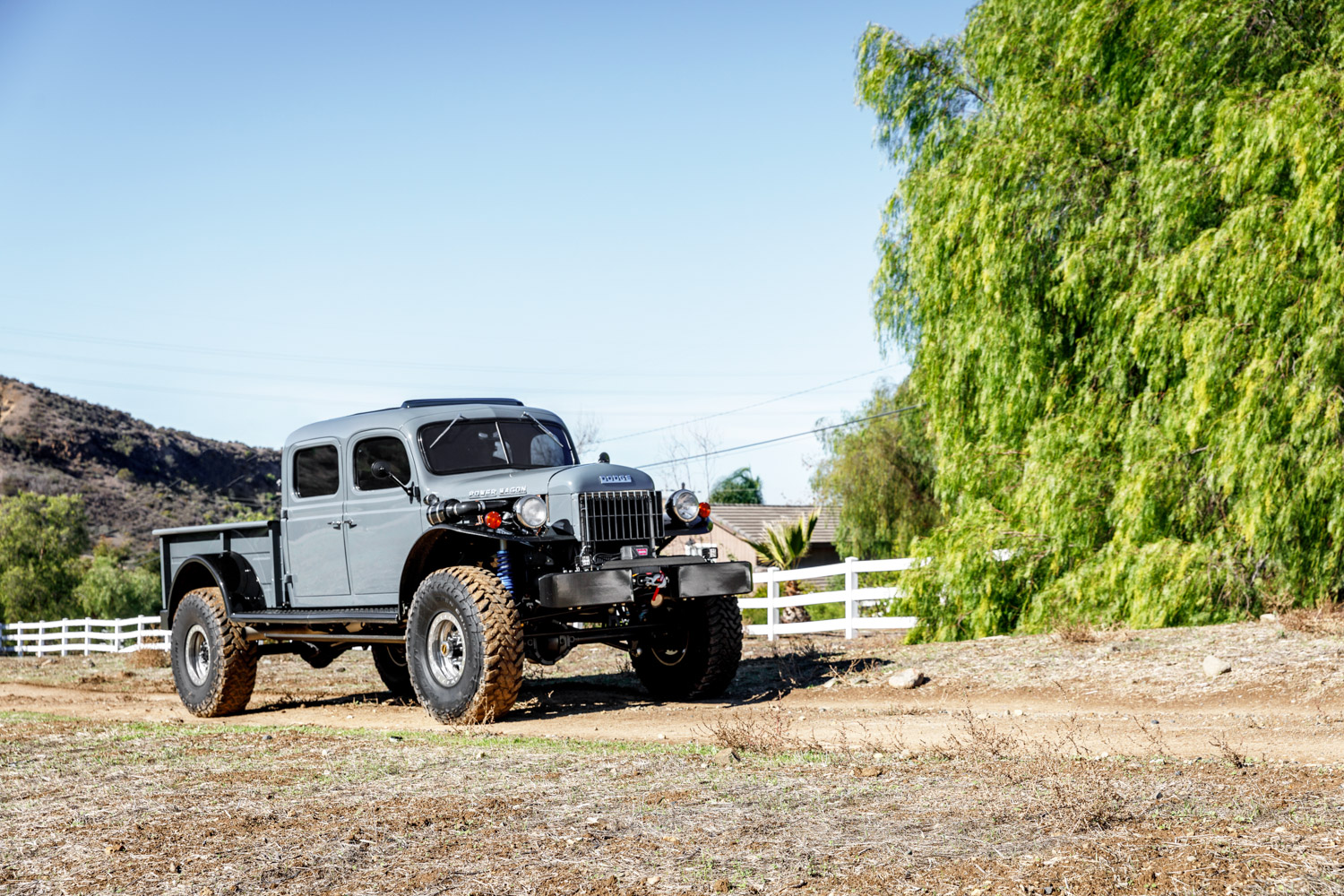 1949 Dodge Power Wagon 3/4 front trees