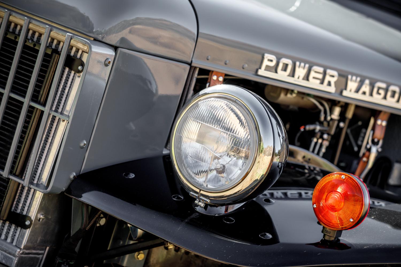 1949 Dodge Power Wagon headlight detail