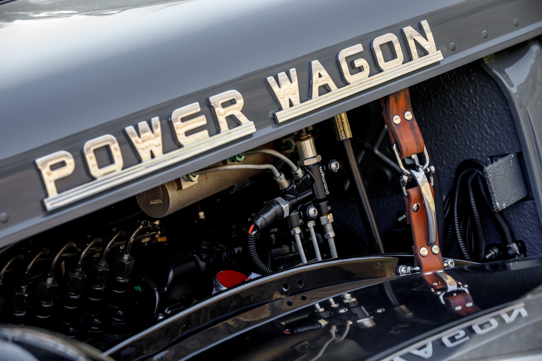 1949 Dodge Power Wagon hood detail