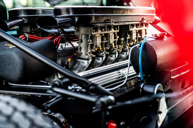 1972 Lamborghini Miura SV engine webbers