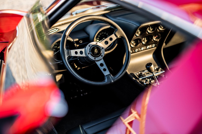 1972 Lamborghini Miura SV interior driver