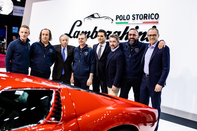 1972 Lamborghini Miura SV team photo restoration
