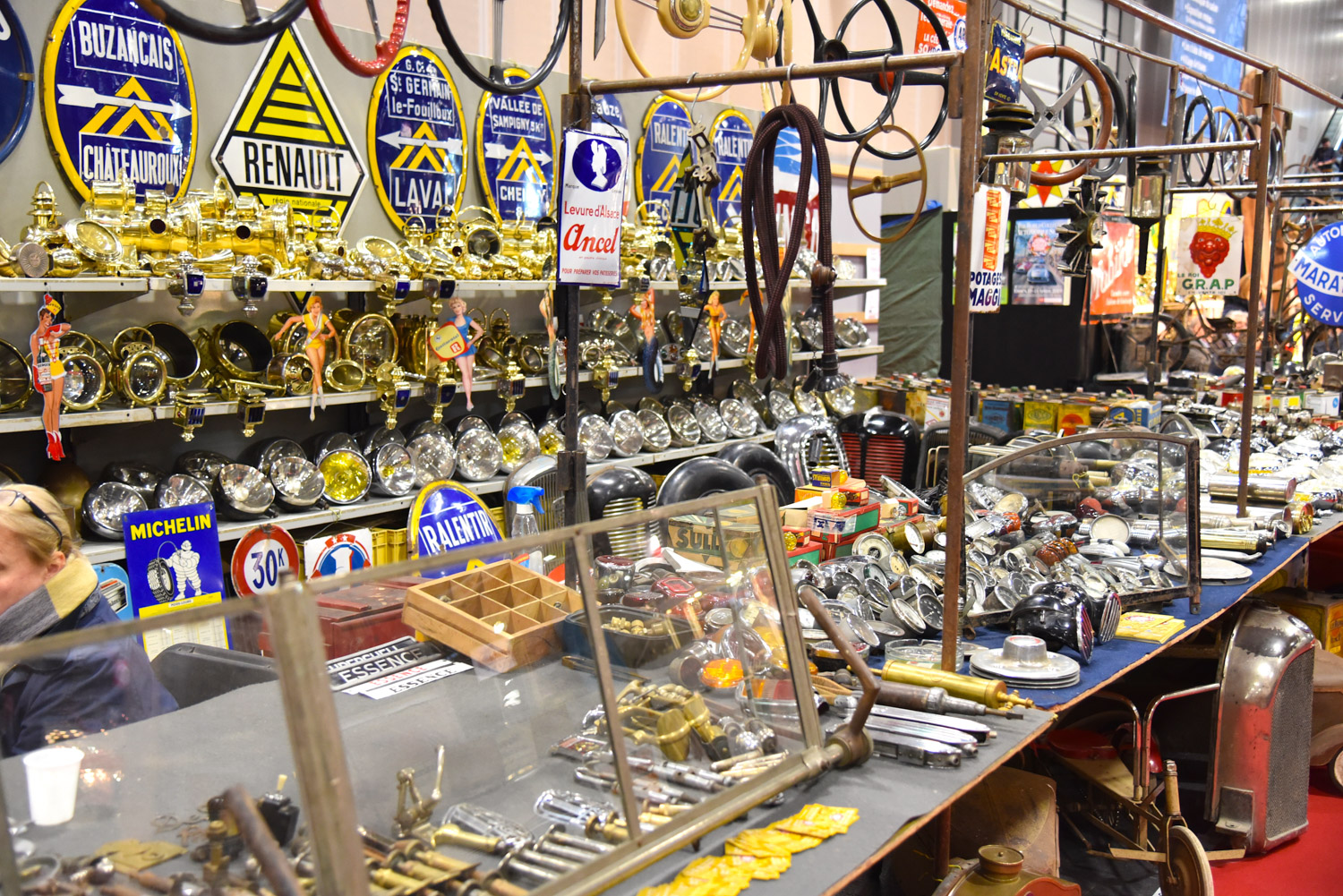 As you would expect from a French car show, Retromobile features a host of vendors selling parts for French makes, including Renault, Citroen, Peugeot, Simca, and others.