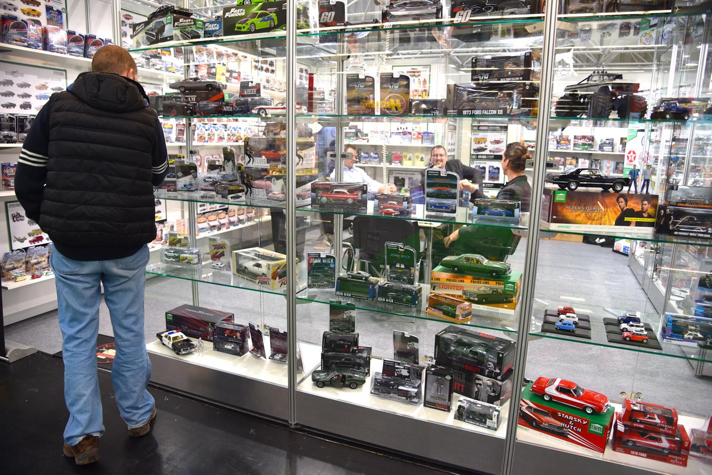 movie car toy display