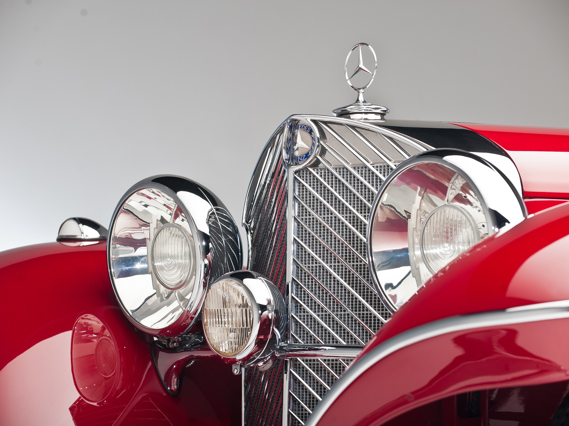 1935 Mercedes-Benz 500k grille detail