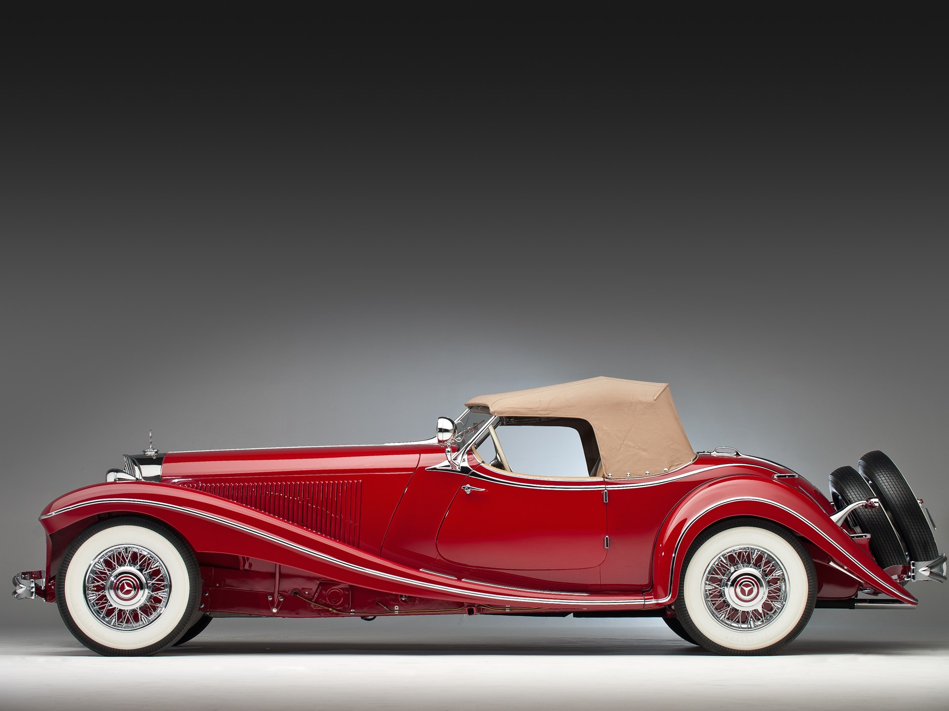 1935 Mercedes-Benz 500k side profile