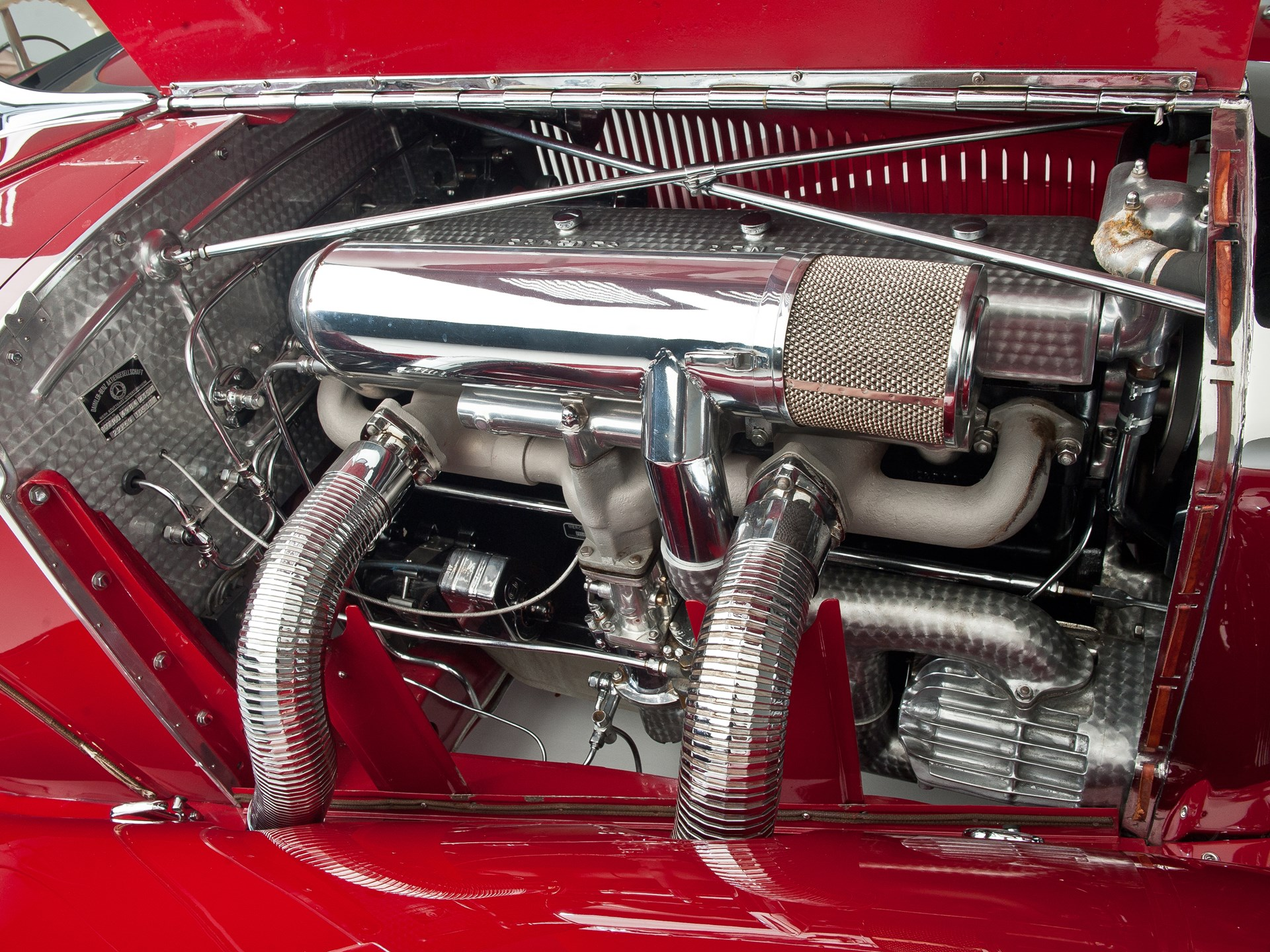 1935 Mercedes-Benz 500k supercharger engine