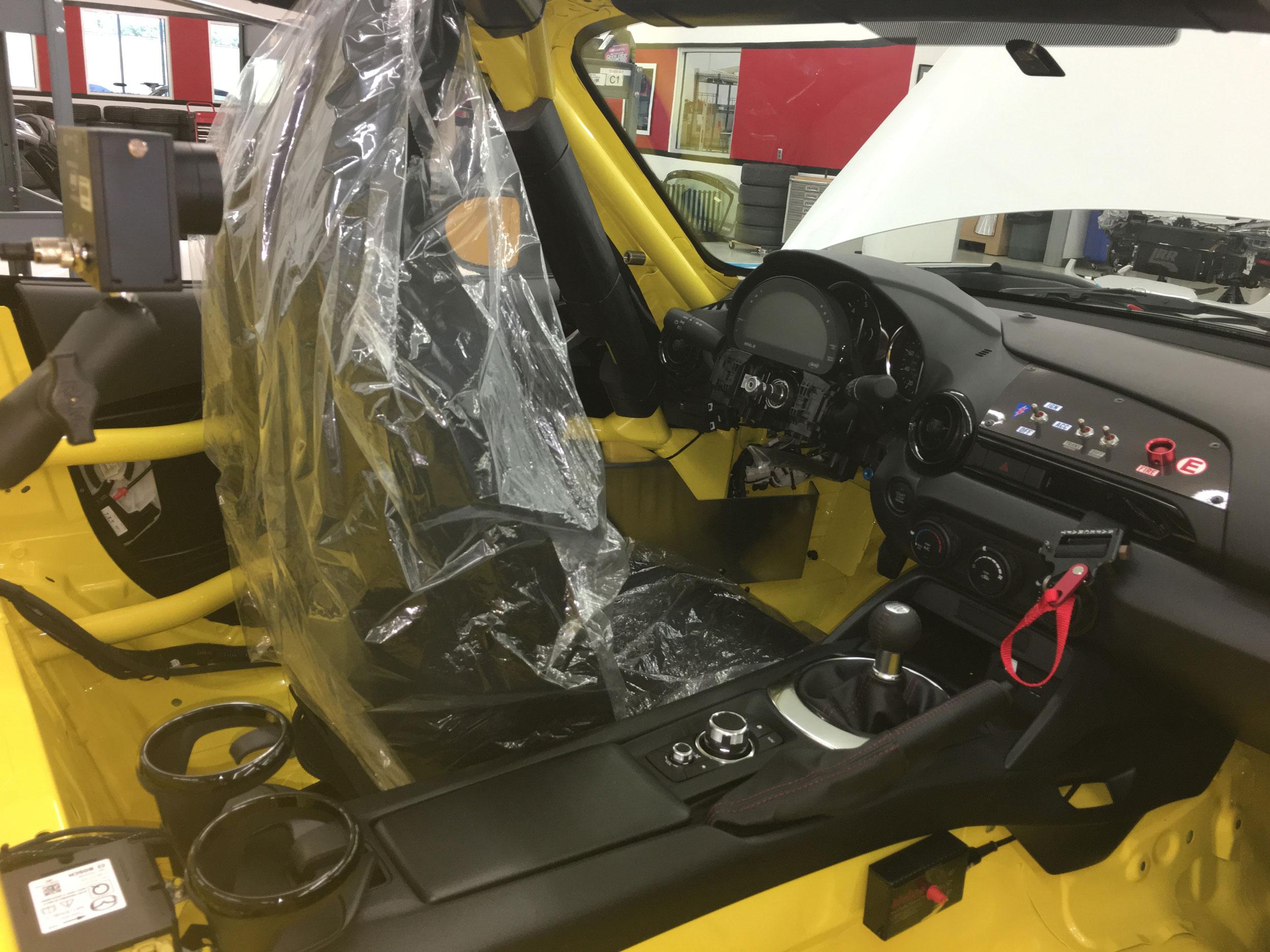 Mazda MX-5 Cup race car interior